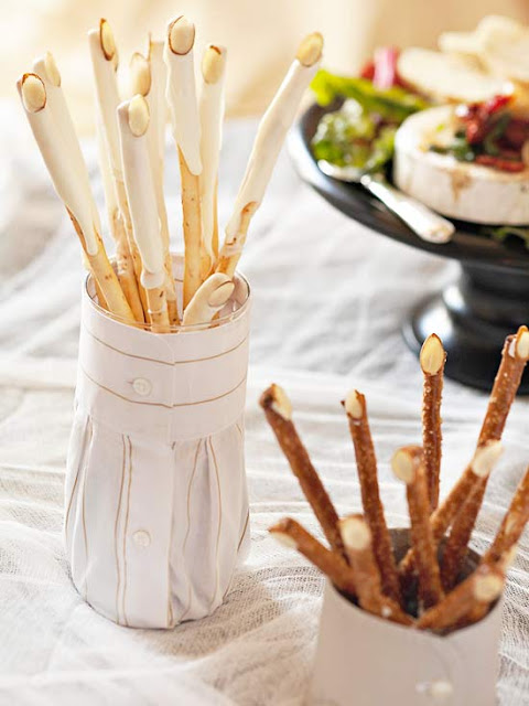 DIY Halloween Edibles that are spooky and delicious! Pretzel Fingers! A little Creepy...