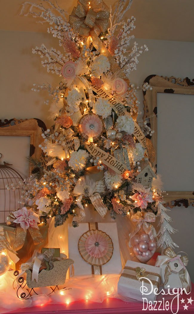 Shabby chic Christmas tree designed by Toni - Design Dazzle