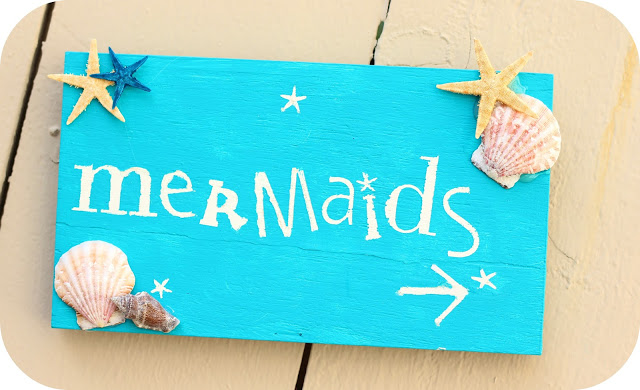 Mermaid Party Sign by Shara Bachman. The perfect intro to a celebration Under the Sea! Plus tons of other Mermaid ideas!