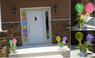 Sip see baby shower design dazzle for Baby shower front door decoration ideas