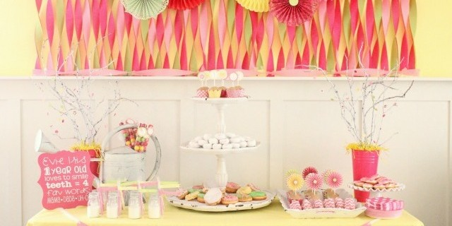 Daisies And Donuts Birthday Party