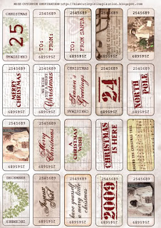 Vintage Christmas Tickets {Free Printables} featured on Design Dazzle
