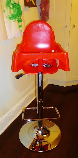 Awesome Ikea Hack, barstool highchair, ikea