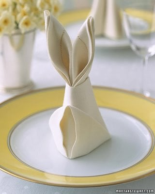 Bunny Napkins and a Beautiful Table Setting & Bunny Napkins and a Beautiful Table Setting - Design Dazzle