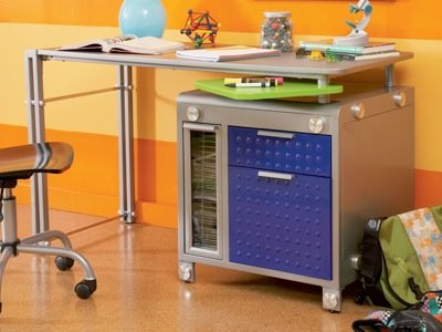 These Industrial, Multi Functional Pieces Are Made From Aluminum And Steel.  Perfect For Active Boys. The Silver And Royal Blue Finish Would Make  Optimus ...