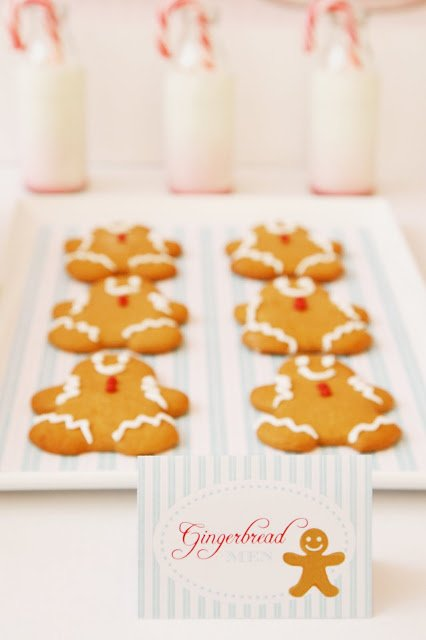 Gingerbread Cookies as a part of the candyland dessert table featured on Design Dazzle