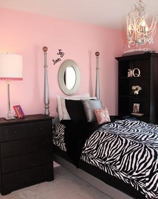 pink black girls rooms design dazzle