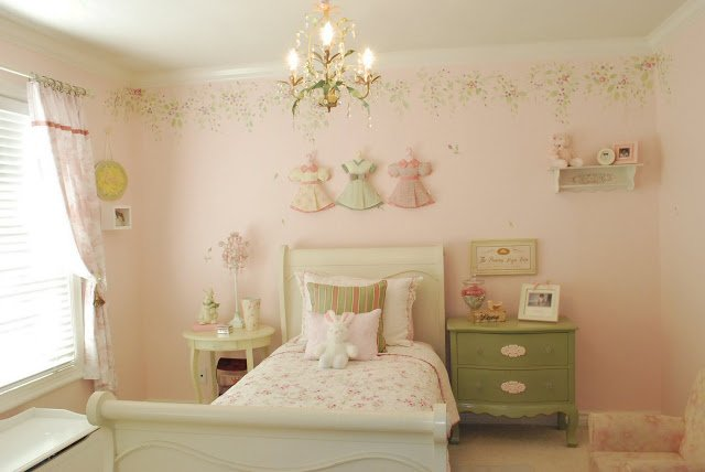 pareti shabby chic : Shabby Chic Girls Room - Design Dazzle