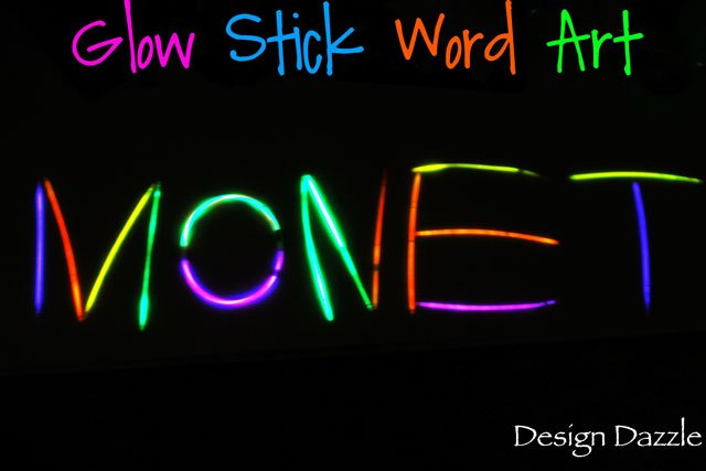 Design Dazzle Top Posts of 2012 - Glow Stick Word Art