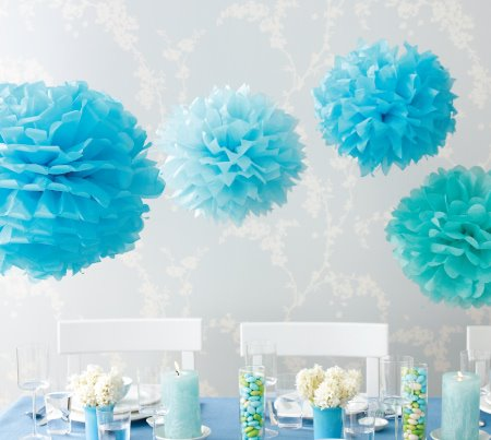 how make tissue paper pom poms