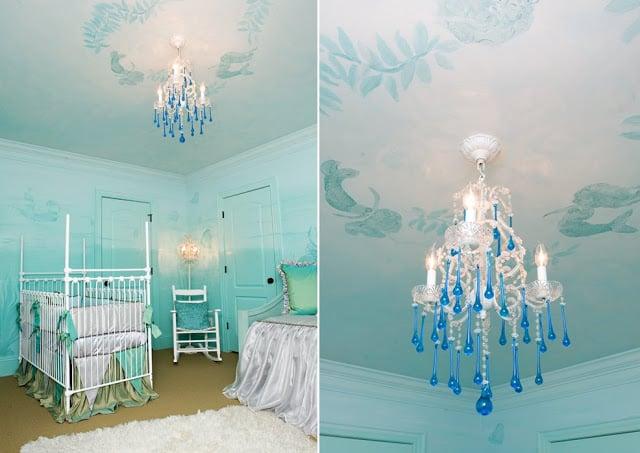 Elegant under the sea nursery design dazzle - Painting nursery ceiling ideas tips ...