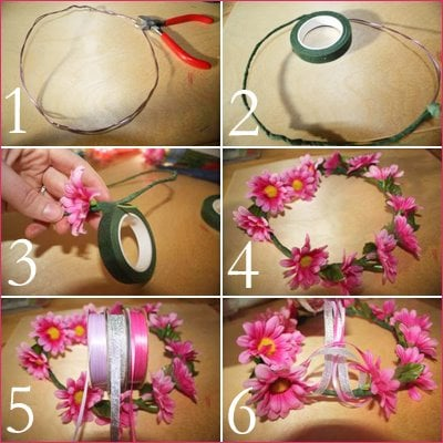 Whimsical flower tiara tutorial! Easy DIY craft that is the perfect accessory for a fairy party!