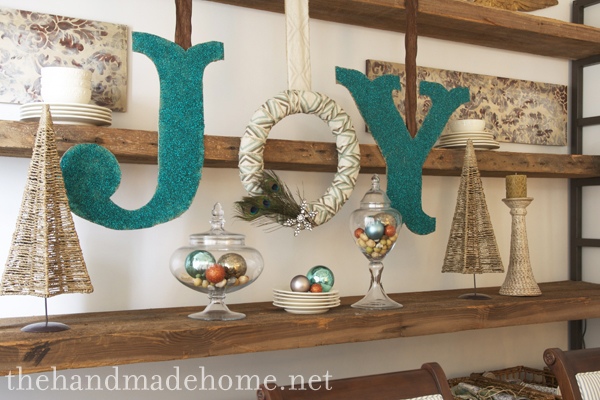DIY Christmas Letters featured on Design Dazzle