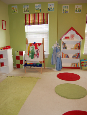 Bright cheerful playroom design dazzle - Ideas for a kids playroom ...