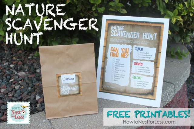 Nature Scavenger Hunt that kids will love! Perfect for Summer!