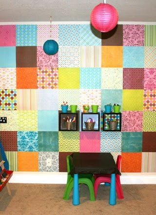 Decorating With Scrapbook Paper