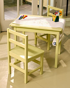 Make A Kids Table Into An Art Table Design Dazzle