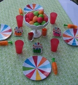Colorful Children's Easter Table