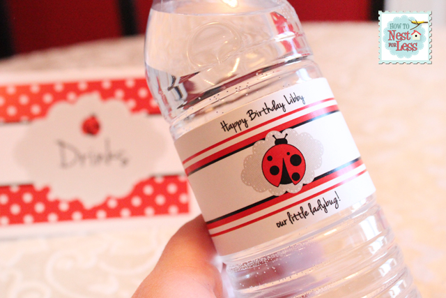 Ladybug Themed Birthday Party with FREE Printables! - Design Dazzle