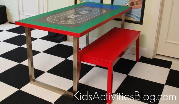 15 Awesome Ikea Hacks, lego table, ikea, refurbished