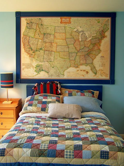 Decorating kids rooms with maps design dazzle for Wall map for kids room