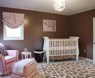 Pink and Brown Contemporary Nursery