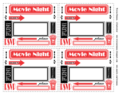 Transformative image for movie night invitations free printable