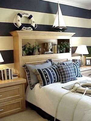 Nautical theme bedroom design dazzle for Nautical bedroom decor