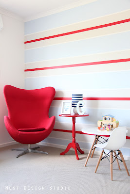Striped Nursery with Surprising Inspiration!