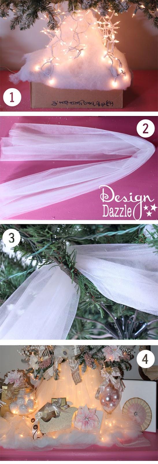 No sew Christmas tree skirt - Design Dazzle