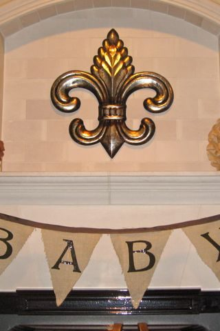 Simple No-Sew Baby Shower Banner