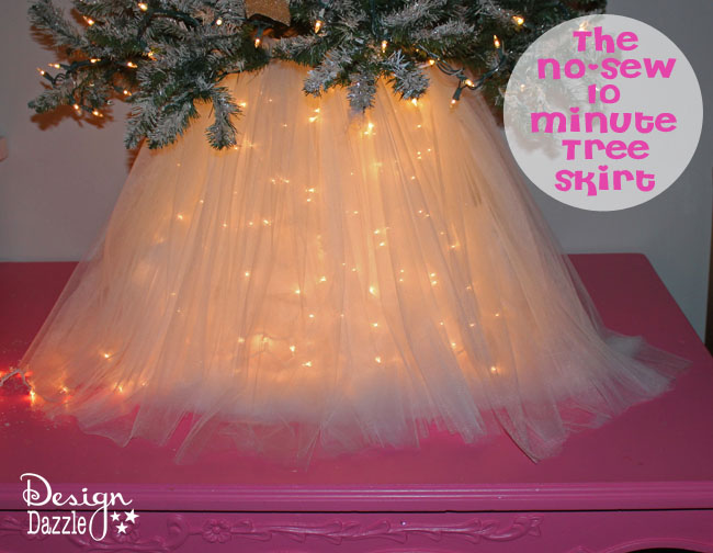 Christmas Wonderful: No-Sew 10 Minute Tree Skirt