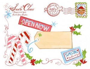 North Pole Special Delivery Label - Design Dazzle