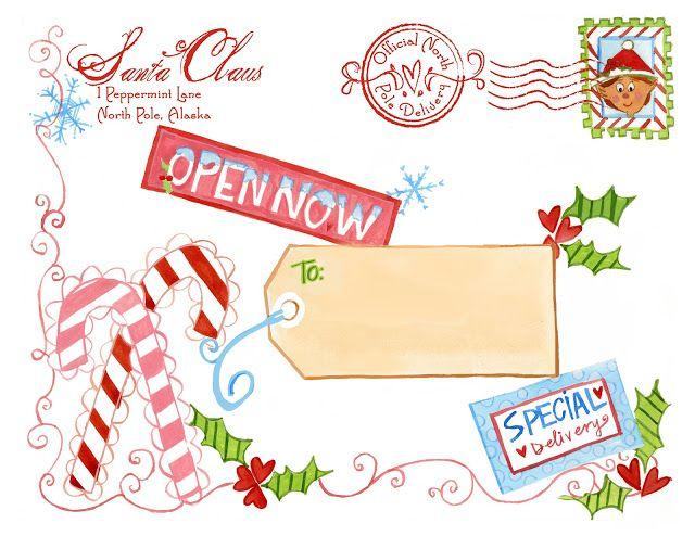 North Pole Special Delivery Label - Design Dazzle