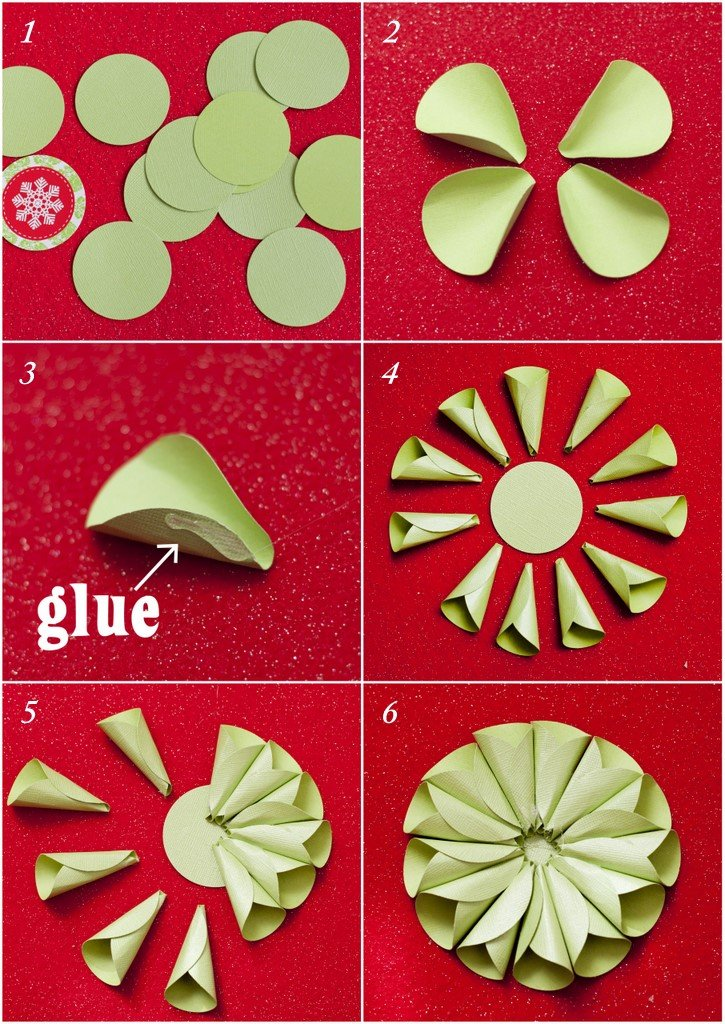How To Make A Cone Star Ornament Featured On Design Dazzle Step