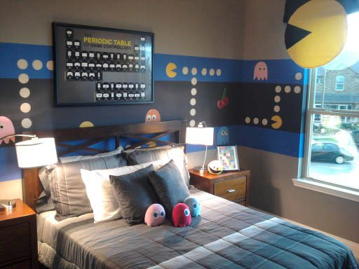kids video game themed rooms are so much fun pacman room by muralist
