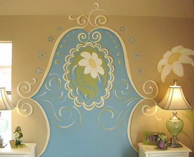 wall mural headboard design dazzle