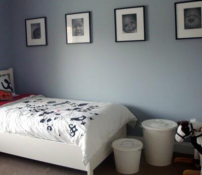 black white toddler room
