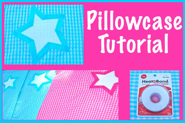 How to make a cute pillowcase. perfect for girls camp, slumber party, etc. Kids can sew it themselves or you can make it for them! - Design Dazzle