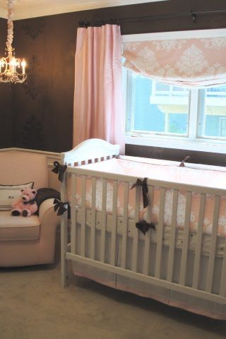 Brown And Pink Sophisticated Nursery