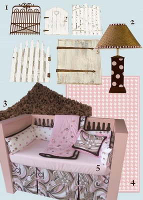 Design Plan Pink Brown Nursery