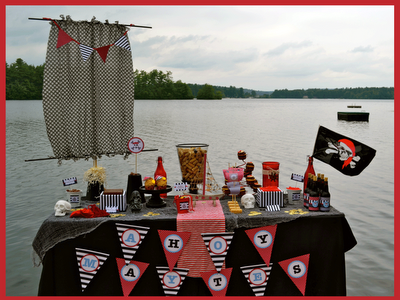 ایده ای از تزئینات تولد با تم دزد دریایی