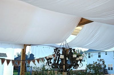 pirate party ideas Thrift Store Sheets as Sails