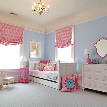 Girl rooms featuring blue walls design dazzle - Girls bedroom ideas blue ...