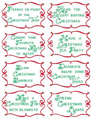 Advent Countdown Calendar including 100 activities - FREE Printables - Design Dazzle
