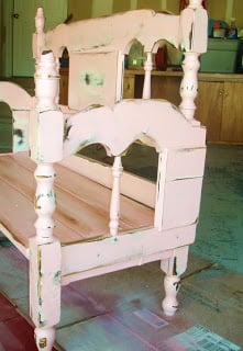 Turn An Old Bed Frame Into A Shabby Chic Bench