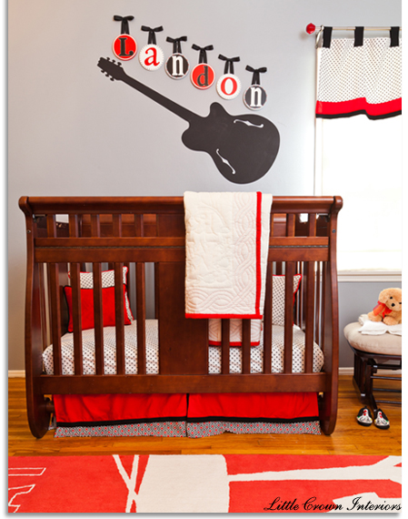 Rockin 39 out baby nursery design dazzle for Rock n roll baby crib set