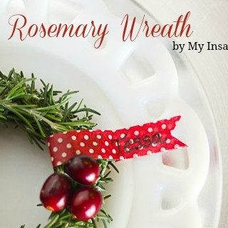 Christmas Wonderful: Fresh Rosemary Wreath