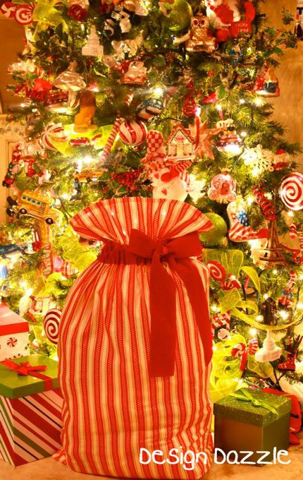 Remarkable Family Traditions Santa Sacks Design Dazzle Easy Diy Christmas Decorations Tissureus