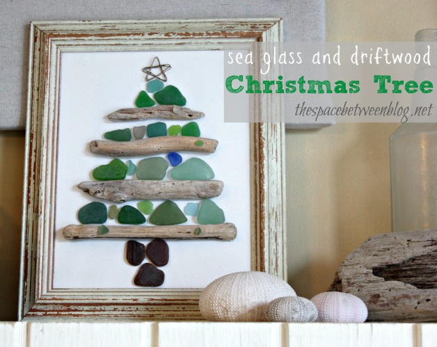 Sea Glass and Driftwood Christmas Tree featured on Design Dazzle
